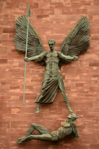 St Michael's Victory Over The Devil, by Jacob Epstein. Photo by Ben Sutherland via Wylio.
